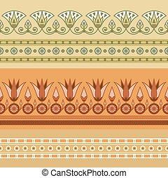 flower., エジプト人, ロータス, 国民, 装飾, seamless, イラスト, ベクトル