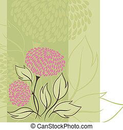 (flower, ベクトル, デザイン, flowers., background)