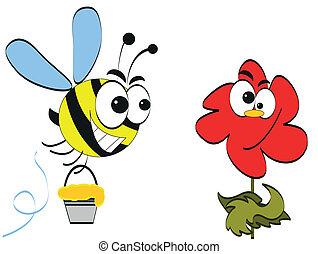 flower., abelha