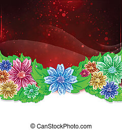 Flower abstract background.