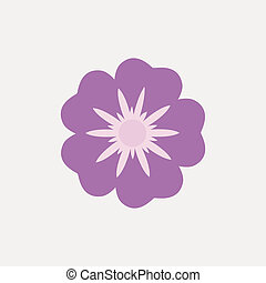 Flower - Abstract Cute flower on a white background