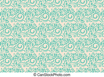 Flower abstract retro pattern backg