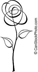 Flower - Abstract vector illustration of flower