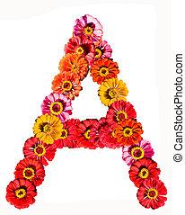 Flower alphabet - A