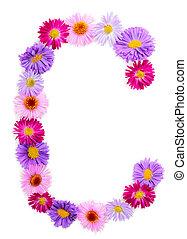 Flower alphabet