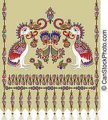 embroidered ethnic Ukraine pattern