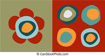 Flower and circles patterns