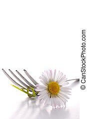 flower and fork