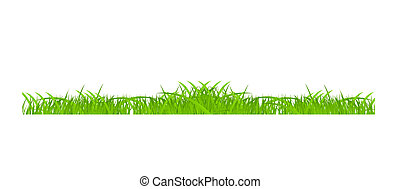 Flower and grass Borders set. vector illustration
