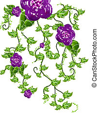 flower and vines