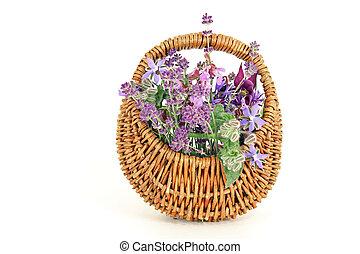 flower arrangement - flower basket