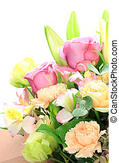 flower arrangement - I arranged various flowers and made a...