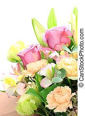 flower arrangement - I arranged various flowers and made a...