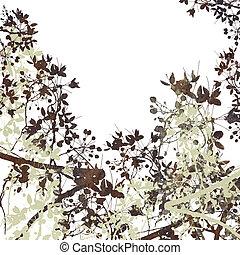 Flower Art on White
