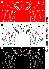 Flower background card, poster,