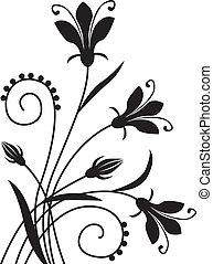 Flower background - Black flower congratulatory decorative...