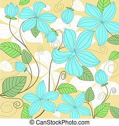 Flower background - Flower pattern for background or textile...