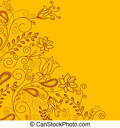 Flower pattern for design as a background