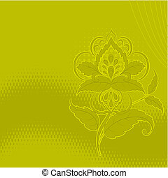 Flower background, green