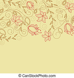 Flower background - Abstract flower background with...