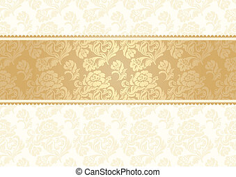 Flower background with lace, seamless, gold. Can be used for...