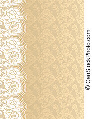 Flower background with lace, vector