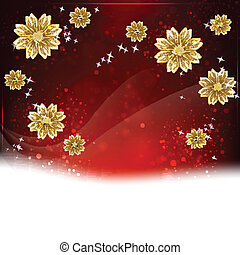 Flower background with space for text, element for design.