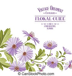 Flower background with violet flowers.