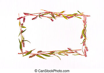 Frame of pink color for inscriptions