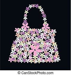 flower bag - a hand bag made of flowers