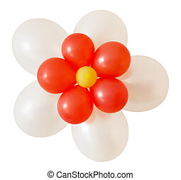 Flower balloons decoration for holiday