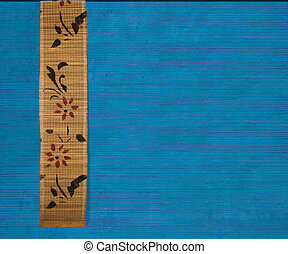 Flower bamboo banner on blue background - Flower bamboo...