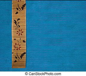 Flower bamboo banner on blue background - Flower bamboo...