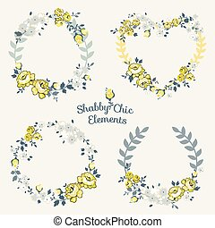 Flower Banners and Tags - for your design and scrapbook - in vector