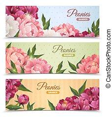 Flower Banners Set