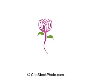 Flower beauty logo vector