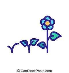flower bed icon vector. flower bed sign. color symbol illustration