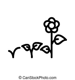 flower bed icon vector. flower bed sign. isolated contour symbol illustration