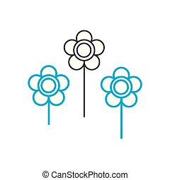 Flower bed linear icon concept. Flower bed line vector sign,...