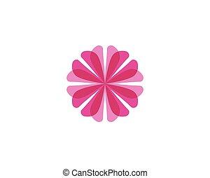 Flower beuty spa logo template