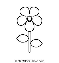Flower black color icon .