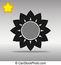 flower black Icon button logo symbol concept high quality
