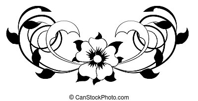 Black And White Heart Flower Plant Coloring Book Page For Adults