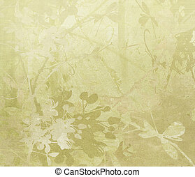 Flower Border Art on Paper Background