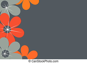 Flower border, background - A background illustration...