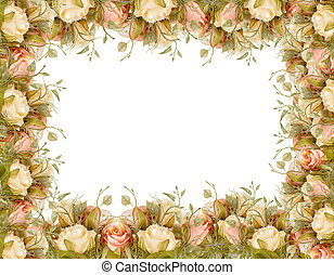 flower border frame with copy space