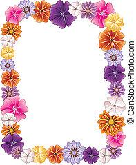 Flower Border - Vector illustration of a Flower border.