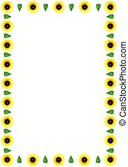Flower Border - Yellow flower border or frame