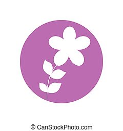 flower botanical natural icon