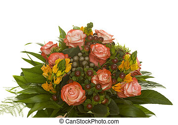 flower boupuet - beautiful isolated flower bouquet
